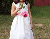 Flower Girl Sash, Bridal Sash, Girl Sash in Blue and Green