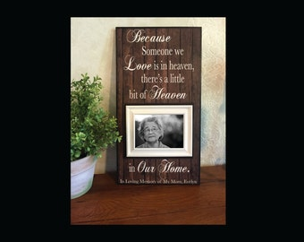 Lost Wedding Gift List : Lost Loved One Memorial Frame ~ Bereavement Memory Frame ~ Because ...