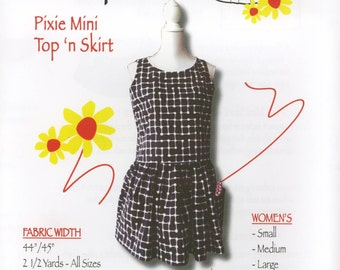 Pixie Mini Skirt and Top Pattern by Trisha Jane Aprons (TJP-2488)