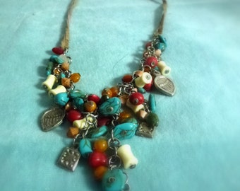 multi media necklace