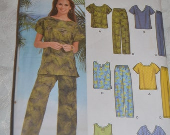 Simplicity 7236 Womans Tops and  Pants or Shorts Sewing Pattern- UNCUT -  Size 18W - 24W