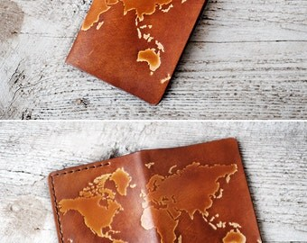 Personalized leather passport holder travel wallet and so the personalized passport cover world map passport cover travel gift genuine leather international world map travel gumiabroncs Choice Image