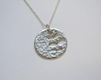 Orla Kiely Inspired Necklace / Leaf Jewelry / Orla Kiely Jewelry