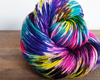 Super Moon-Hand Painted-Hand Dyed- Superwash Merino- Worsted Weight Yarn - 218yds - Witch Candy