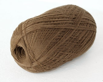 Cobweb  light brown color wool yarn - haapsalu shawl yarn