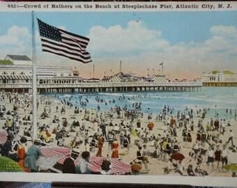 Vintage Postcard Steeplechase Pier Atlantic City, New Jersey 1920