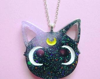 Luna Necklace- Sailor Moon- Anime- Fairy Kei- Kawaii- Diana Artemis- Pastel Goth- JFashion- Harajuku-Mahou Shojo- Mahou Kei