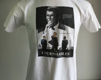 Ronald Reagan Shirt 1988 Vintage/ The Undesirables 80's Funny Fake Political Movie Promo Election Tshirt/ Bush Dukakis Jesse Jackson Usa Lrg