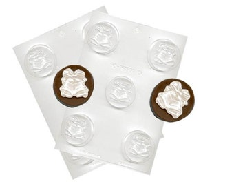 Wedding Bells Chocolate Sandwich Cookie Molds - Baking Candy Making Party Supplies