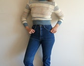 Vintage Union Bay 25x35 High Waist Straight Leg Distressed Western Denim Jeans