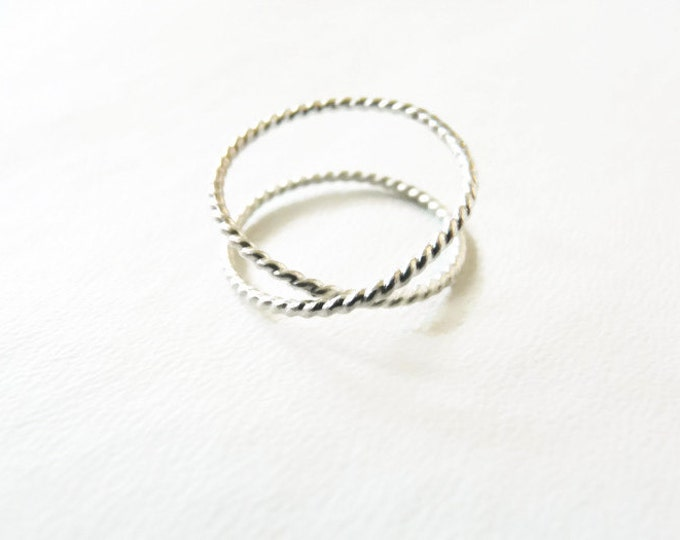 Sterling Silver Infinity//Rope Wire Ring//Index Ring//Handmade Jewelry//Under 20