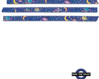 Universe Washi Tape - Galaxy Planets Constellations Stars Blue Sky - 15mm x 10m - Planners Gift Wrap Scrapbooks Decoration