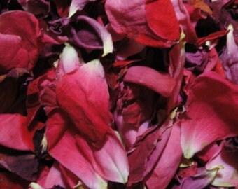 Homegrown Dried Rose Petals