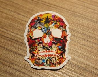 Mix Skull Transparent Sticker, 100% Waterproof Vinyl Transparent Sticker, Pop Culture Transparent Sticker