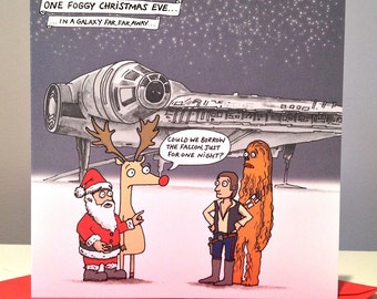 Star Wars Millennium Falcon Christmas card