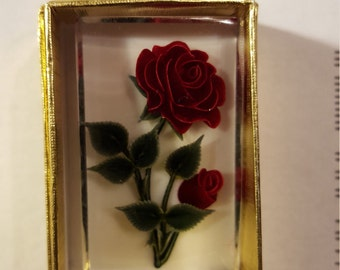 Valentine's Day Rose Brooch