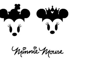 Minnie Mouse Face SVG File