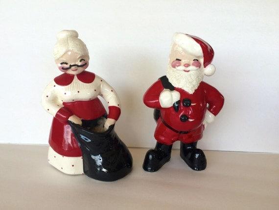 Santa claus mrs figurines signed betty lou nichols