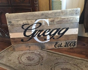 Family Established Pallet Sign