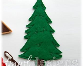 Pine Tree Felt Paper Doll Toy Accessory Digital Design File - 6x10