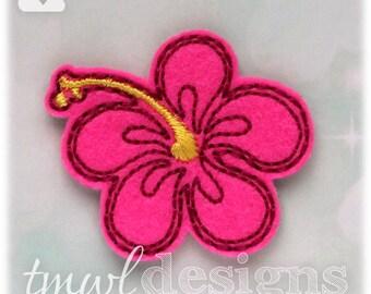 """Hibiscus Flower Feltie Digital Design File - 1.75"""""""