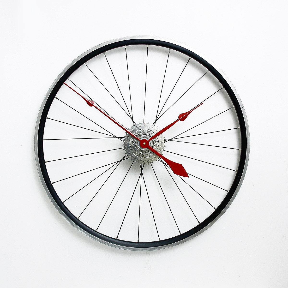 Bike Design Wall Clock : Large wall clock bicycle bike
