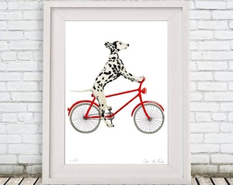 ORIGINAL Dalmation PAINTING handpainted on high quality 200g Clairfontaine Art paper , acrylic painting, handpainted by Coco de Paris: