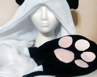 Panda Paw Hood - Options Available