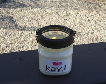 8oz Handmade citronella hanging candles