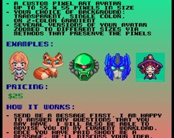 MrGilder's Custom Pixel Art Avatars