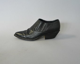 1980s black western ankle boots - size 11
