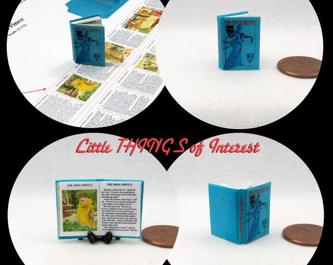 THE FROG PRINCE Pdf and Tutorial Printie for 1:12 Miniature Dollhouse Scale Readable Illustrated Book Miniature Accessory Princess Disney