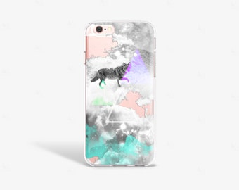 Clouds iPhone 7 Case Hipster iPhone 7 Plus Case Tough Clouds iPhone Case Clear Transparent iPhone 6 Plus Case Samsung S6 Case
