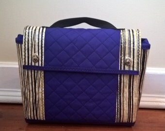 Quilted sail cloth messenger bag
