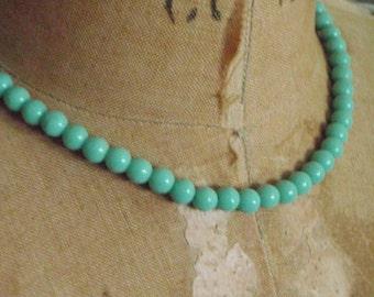 Seafoam Green Bead Necklace