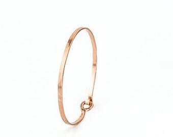 Pure Copper Bracelet, Unisex Bangle, Copper Bracelet Jewelry, Men Copper Bracelet, Hammered Copper Jewelry, Minimalist Copper Bracelet Women