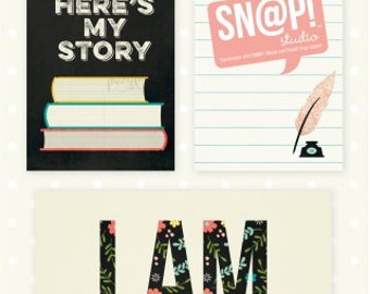 Simple Stories I AM... SN@P! Cards, Scrapbook Journaling Cards, Includes 72 Memory Cards for Pocket Scrapbooking