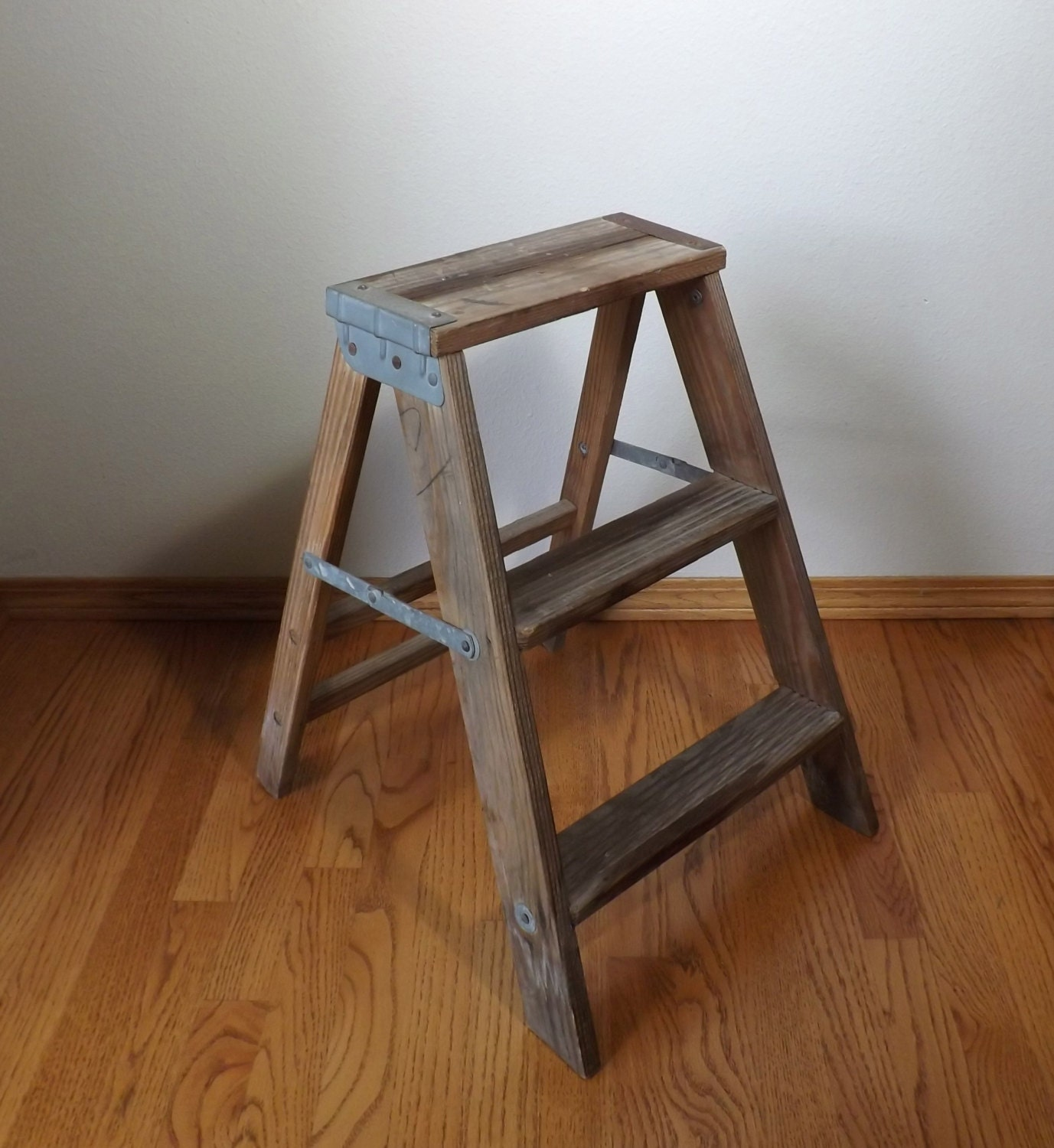 Wood Step Stool Step Ladder Photography Prop Staging