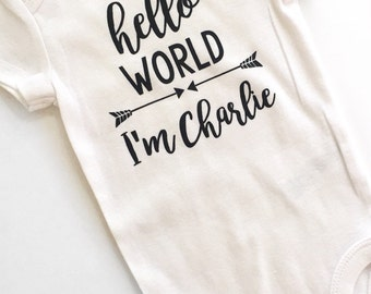 Hello World Newborn Outfit Boys, Baby Coming Home Outfit, Hello World, Boys Newborn Outfit, Baby Shower Gift, take home outfit, baby boy