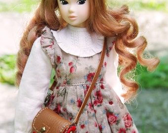 """1/6 Scale - Handmade - Mini """"Sarry"""" Leather Bags with Brown Flap"""