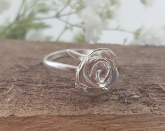 Silver Rose Ring - Juliet