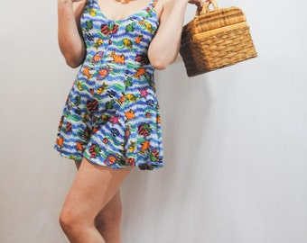 Fishes Shorts Romper