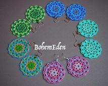 "beadweaving tutorial: Seed bead mandala earrings (or pendant). modified circular peyote stitch tutorial, ""lacy peyote stitch"". download only"