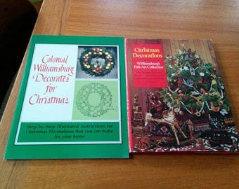 Two Vintage Christmas Craft Books Colonial Williamsburg