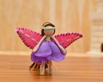 Miniature Fairy Doll - miniature fairies, waldorf fairy doll, waldorf fairies, flower fairy doll, flower fairies, mini fairy doll