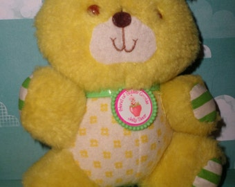Strawberry Shortcake Vintage Plush Jelly Bear with Collar NICE