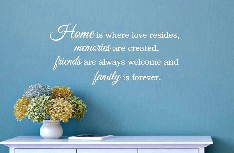 Home Is Where Love Resides Memories Are Created Wall