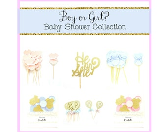Boy or Girl Baby Shower Decoration Kit  - Baby shower decor, baby shower kit,boy or girl party kit, gender reveal party decorations