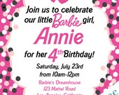 Barbie Birthday Party Invitations