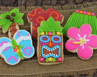 Tropical Luau Cookies